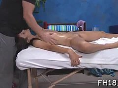 Hot 18 year old gal gets screwed hard by her massage therapist